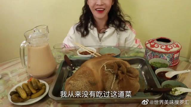 大胃王mini吃石头包羊,肥而不腻,一口下去满嘴油汁太爽了!