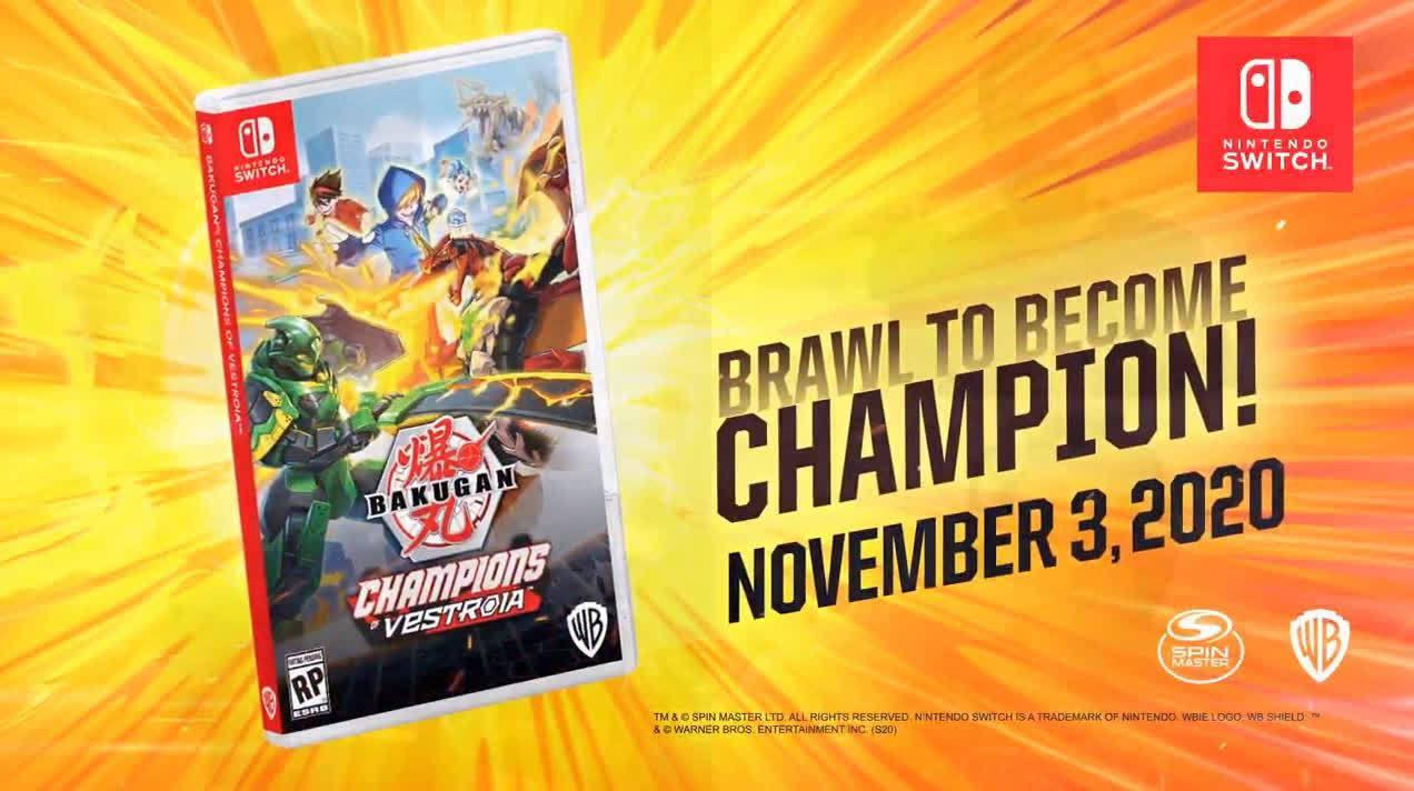 任天堂树屋直播活动上公开了WayForward新作《Bakugan: Champions of Vestroia》