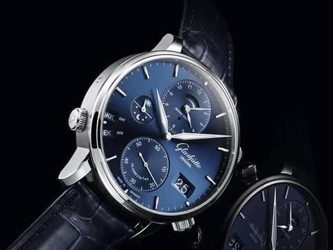 格拉苏蒂原创不锈钢Senator世界时间手表,新增蓝面款