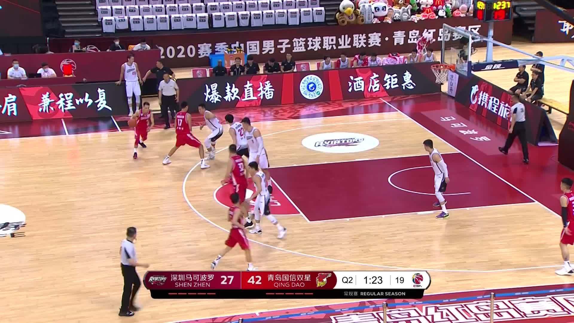 绝不手软!@青岛国信双星篮球俱乐部 球员王庆明右侧45度接球……