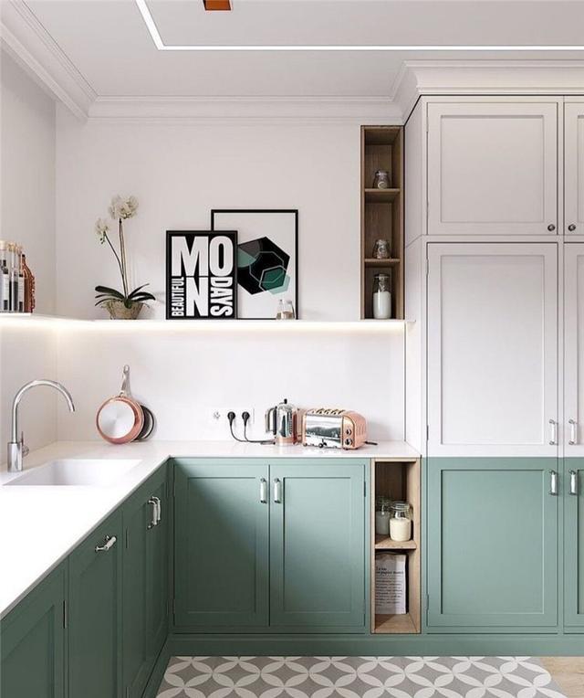 看看人家的厨房设计,高级实用又有仪式感,我家的厨房只能叫柜子