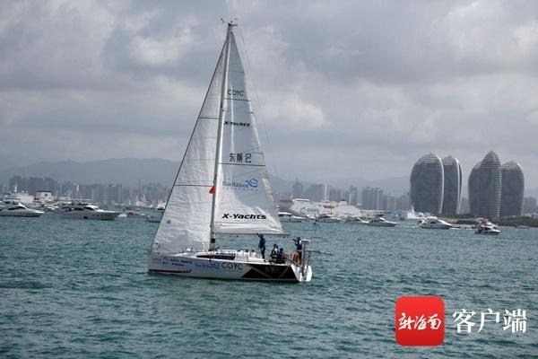 环海南岛无动力不间断低碳帆船环保行三亚起航