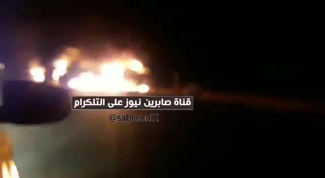 美军在伊拉克迪瓦尼耶省的车队遭到身份不明人袭击