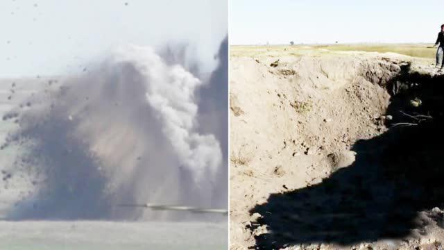 闷雷!苏-34空投BetAB-500钻地弹 爆炸效果超乎想象
