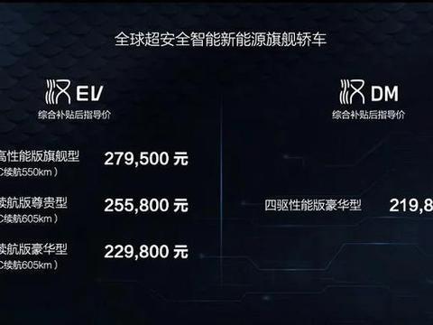 比亚迪汉EV、汉DM正式上市 中国品牌迎来自己的高光时刻