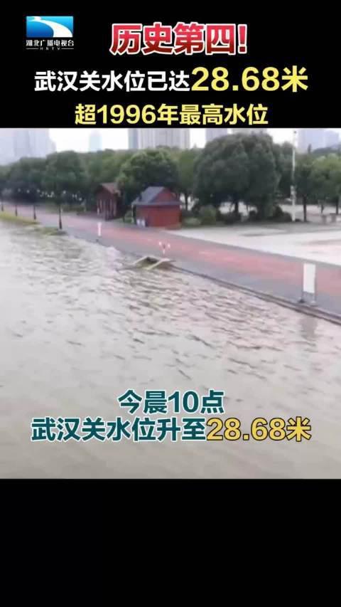 28.68米!武汉关水位超过1996年,达到历史第四 !(湖北新闻)