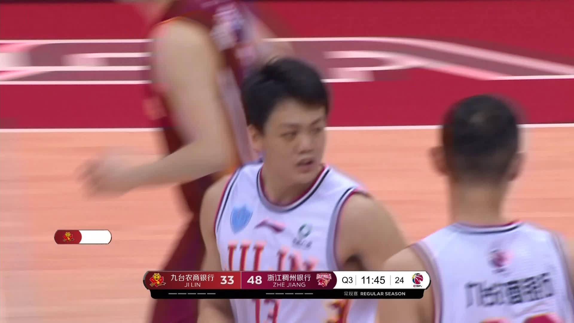 脚步灵活!@吉林东北虎男篮 球员@JYx_姜宇星Aimy 转身强起……