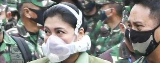 印尼高官妻子因戴炫酷口罩引热议!价格高达万元被质疑炫富!