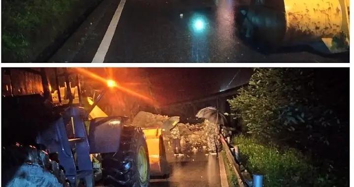 四川雅安石棉县G108拖乌山段塌方 连夜抢通恢复通行