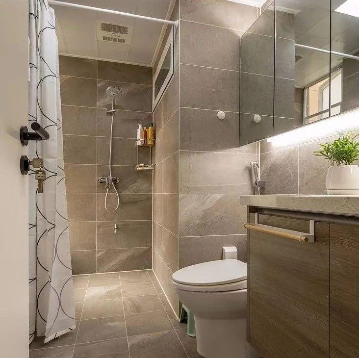 小户型的卫生间,做干湿分离很难吗?这样布局就行了