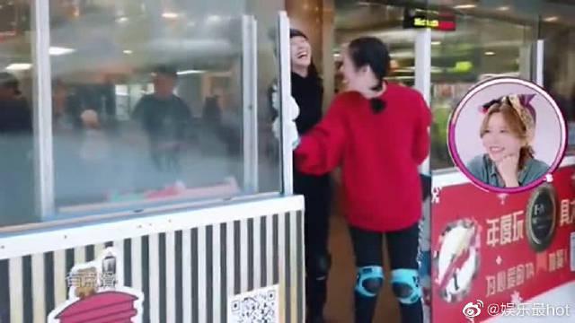 闺蜜带王鸥去滑冰场,不教王鸥怎么滑,只教王鸥如何正确摔跤!