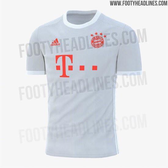 Footyheadline曝光了新赛季拜仁慕尼黑客场球衣的谍照……