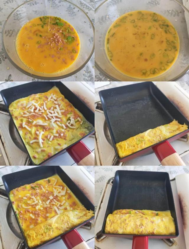 10分钟就搞定的火腿奶酪厚蛋烧,早餐不用愁,比水煮蛋还要好吃