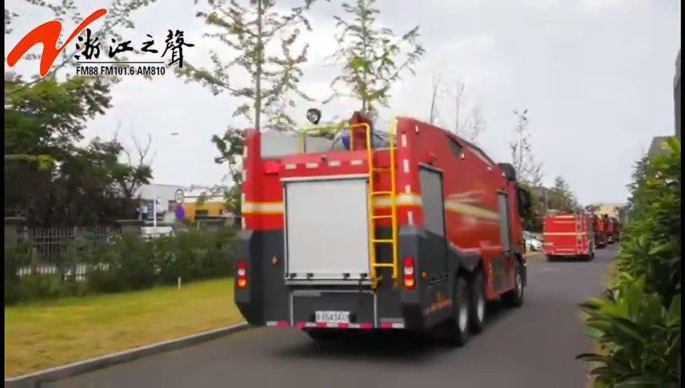 浙西片区(衢州)消防110人先遣部队出发赴赣支援抗洪2020保卫长