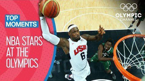 NBA球星奥运赛场高光集锦!姚明脑后妙传,詹科空接配合……