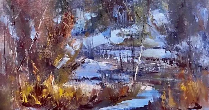 女画家凯伊·富兰克林风格松散,富有象征性的油画作品,太喜欢