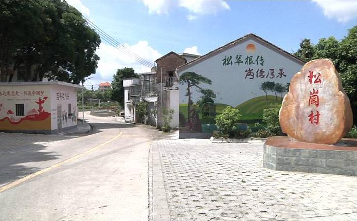 """鹤山龙口镇松岗村:色彩斑斓""""网红""""墙绘 助力基层党建乡村建设"""