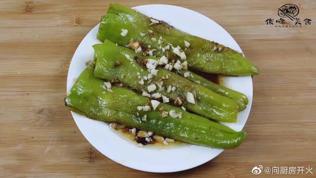 虎皮青椒气味清香,口感鲜辣,绵而不烂,原料即便宜做工又简单