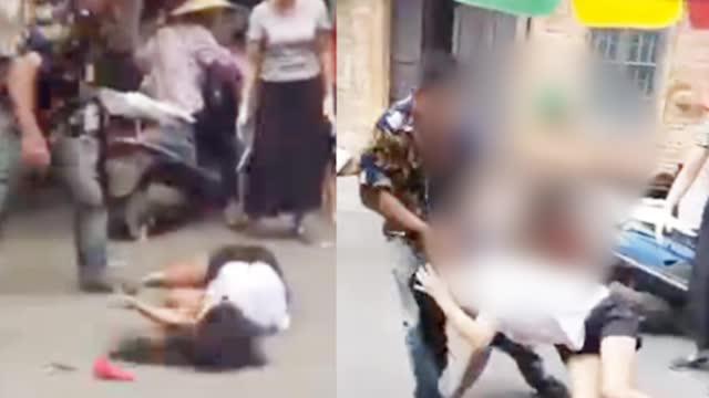 网传广西一男子当街暴打妻子 拖拽头发抱起后重重摔在地上 警方介