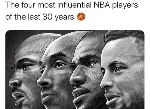 过去30年影响力最大球员,美媒选出4大超巨,詹姆斯库里上榜