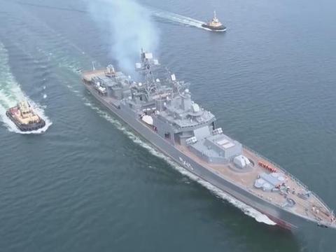 """大修4年华丽转身:俄罗斯1155型驱逐舰,升级成功后更加""""无畏"""""""