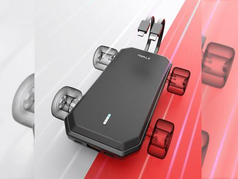 iWALK爱沃可推出赛车宝移动电源,自带双快充线全接口快充
