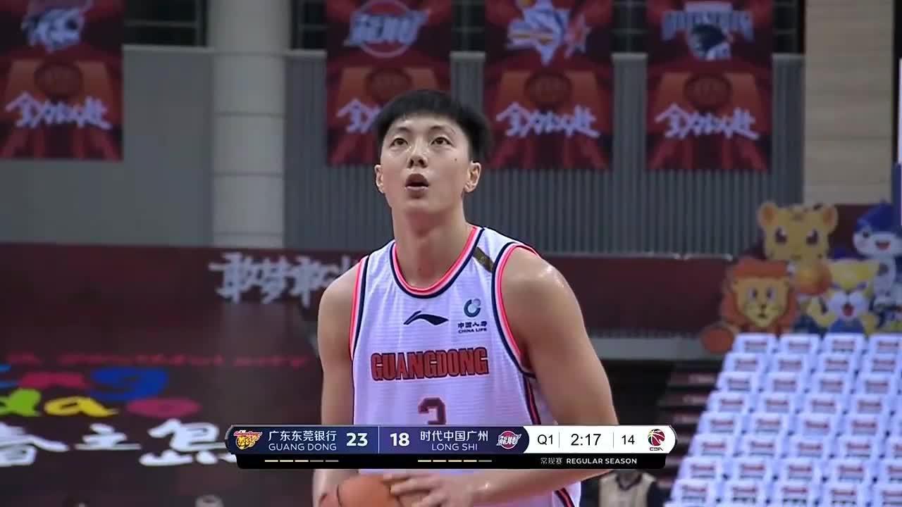 在刚刚结束的中,广东东莞银行121:99战胜时代中国广州!
