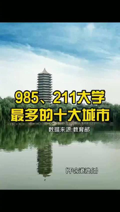 全国985、211大学最多的十大城市