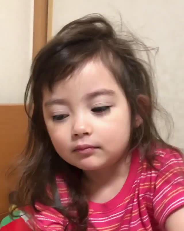 日本高颜值睫毛精小宝宝,睫毛美哭