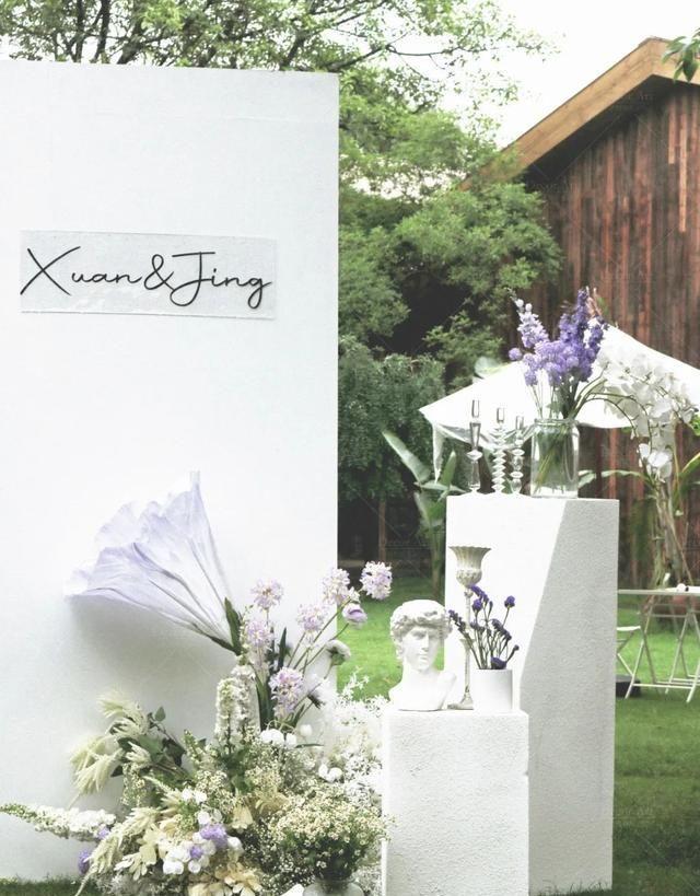 仲夏夜的淡紫色婚礼,属于夏日专属的牵牛花浪漫