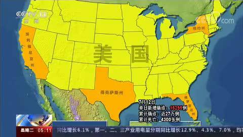 佛罗里达州单日新增病例再创全美新高