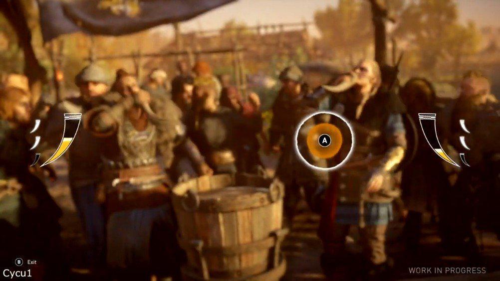 《刺客信条: 英灵殿》饮酒小游戏实机演示