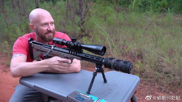 沙漠科技SRS-A2隐蔽型狙击步枪,靶场射击测试,消音效果很棒……