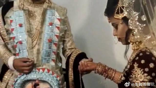印度贵族的婚礼,新娘这一身好漂亮!