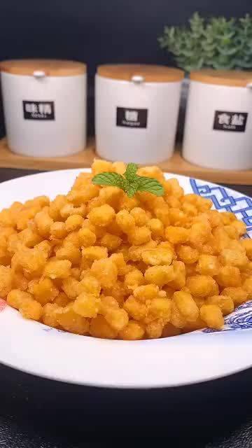 金沙玉米,蛋黄的咸香搭配玉米的甜糯,你真的不准备试试?