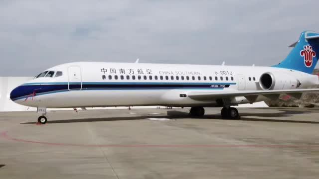 南航ARJ21-700国产客机首航成功,经济舱布局更合理