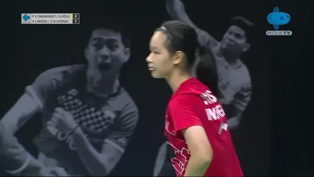 波莉/菲比·加尼出战首场印尼女双队内赛