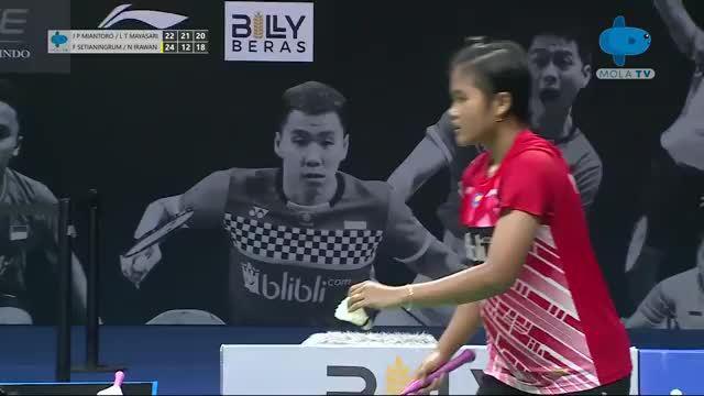 属于年轻人的一场印尼女双队内赛打得够激烈的