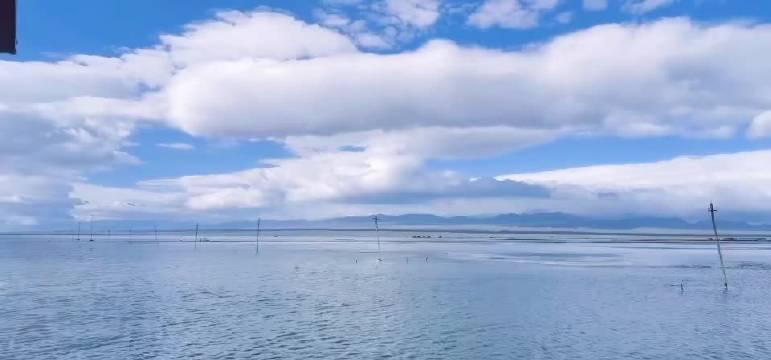 没有背景只有背影的童鞋要加油 天空之镜(茶卡盐湖)