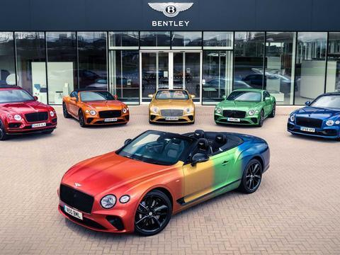 全车彩虹色 宾利欧陆GT V8敞篷定制版将于7月底英国柴郡东部亮相