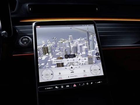 全新奔驰S级内饰曝光 简洁的科技感