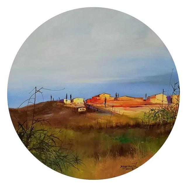 中国当代印象派画家罗文油画作品赏析
