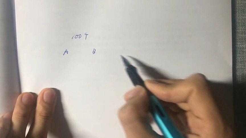 一天一题学数量119 一个总额为100万的项目分给甲、乙、丙、丁四