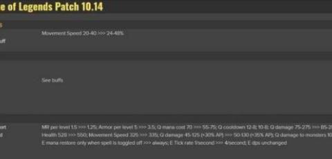 LOL 10.14更新,刺客喜提加强!