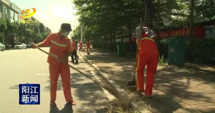高温下的坚守:阳江环卫工人用汗水守护城市的美丽