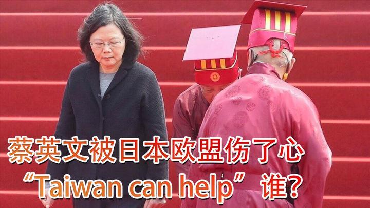 """蔡英文被日本和欧盟伤了心,""""Taiwan can help""""谁?"""
