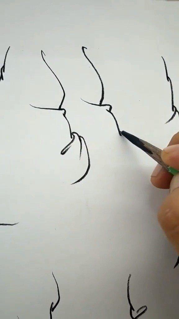 长洲老师衣纹速写绘画过程……