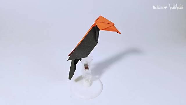教你折纸双角犀鸟,简单形象,儿童很喜欢