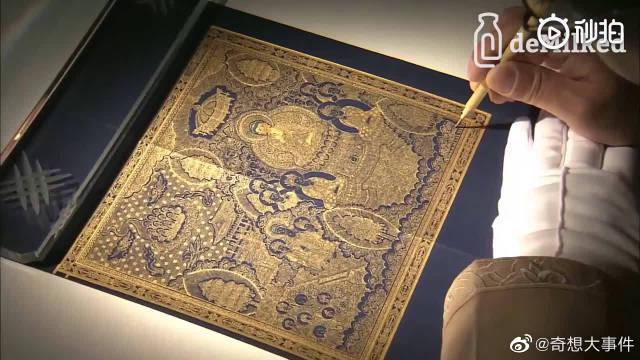 拥有1700年历史的旧绘画技术,这精度真的让人窒息,太美了