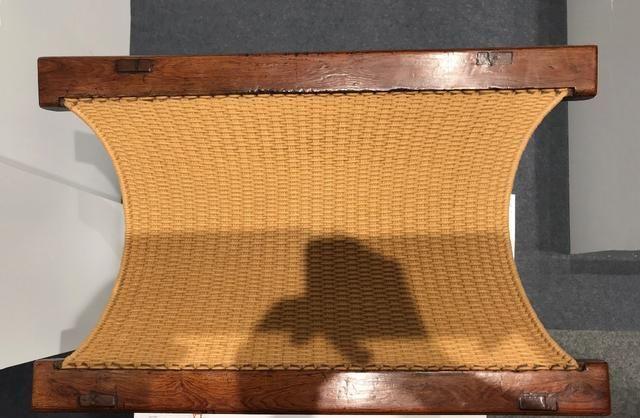 黄花梨交杌一荤一素,雕花小个子碾压洪氏大器型